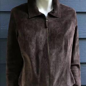 Isaac Mizrahi Women Jacket Sz XXL Suede Zip Lined